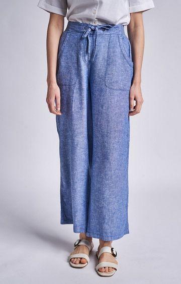 AND | Blue Melange Pants