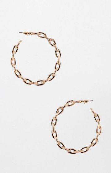 AND | Gold and Black Hoops
