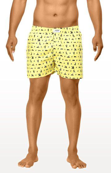 La Intimo | Yellow Printed Boxers