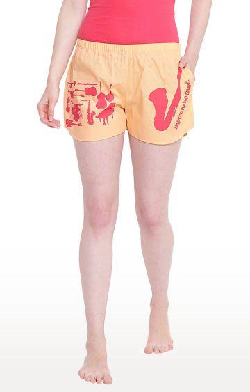 La Intimo | Peach Printed Shorts