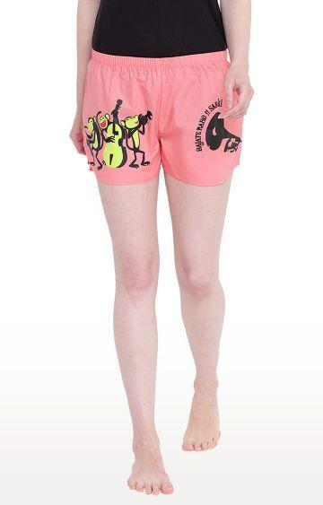 La Intimo | Pink Printed Shorts