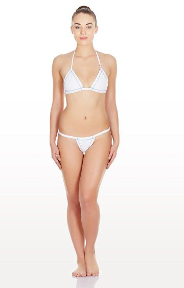 La Intimo | White Triangle Non Padded Lingerie Set