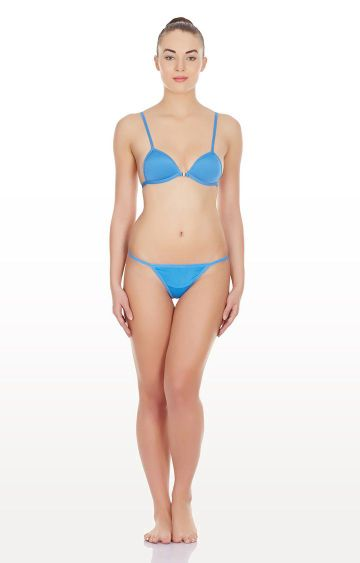 La Intimo | Blue Hollywood Push Up Lingerie Set