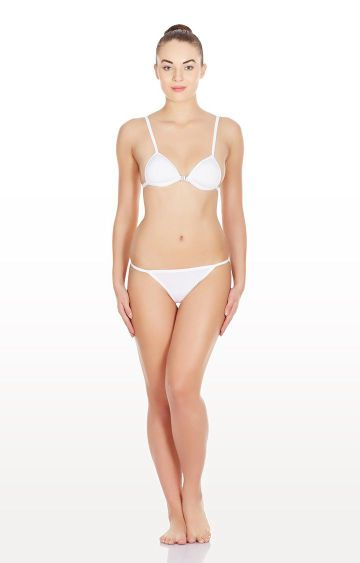 La Intimo | White Hollywood Push Up Lingerie Set