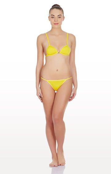 La Intimo | Yellow Hollywood Push Up Lingerie Set