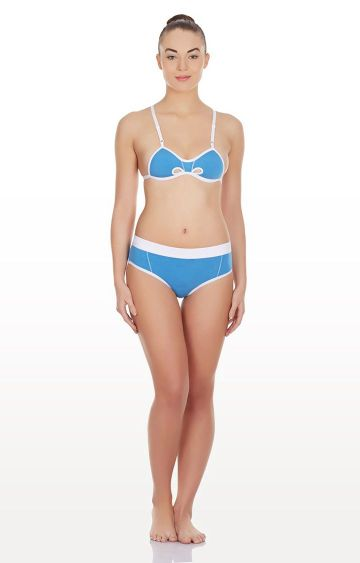 La Intimo | Blue Hole In a Bikini Lingerie Set