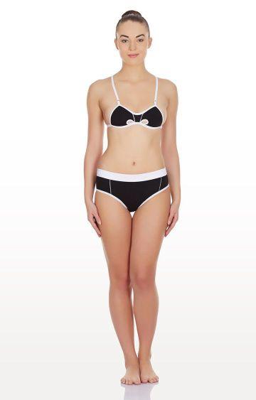 La Intimo | Black Hole In a Bikini Lingerie Set