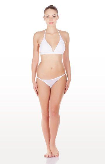 La Intimo | White Mesh Bikini Lingerie Set