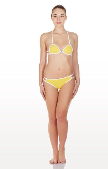 La Intimo | Yellow Gusset Lingerie Set