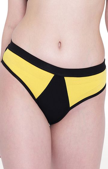 La Intimo | Yellow & Black Mermaid Panty