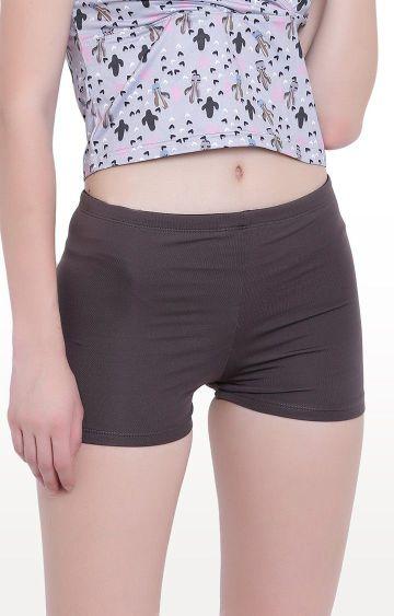 La Intimo | Grey Fash Melange Shorts