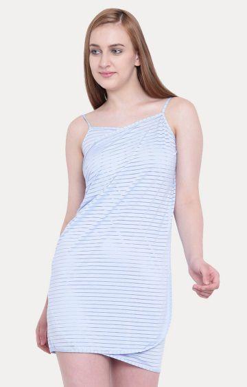 La Intimo   Blue Striped Wraparound Sarong