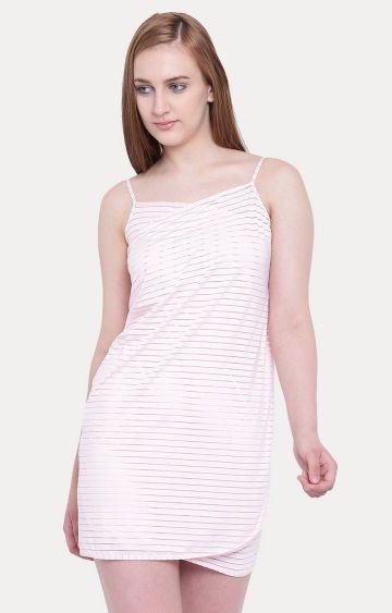 La Intimo   Pink Striped Wraparound Sarong