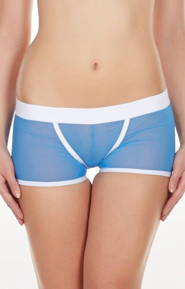 La Intimo | Blue Power Net Low Back Boyshorts