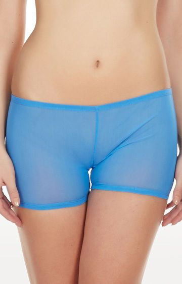La Intimo | Blue Mesh Comfy Sports Boyshorts