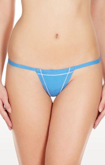 La Intimo   Blue Real Feel G-String Thong