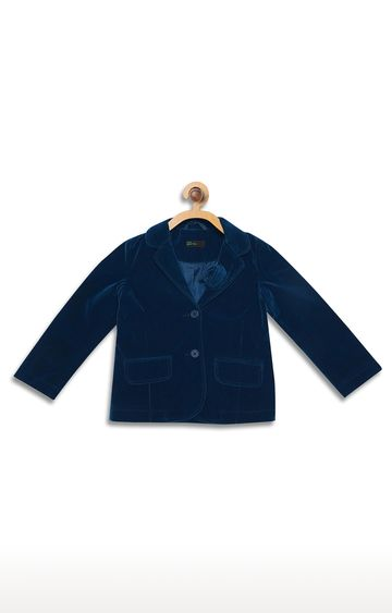 United Colors of Benetton | Blue Solid Western Jacket