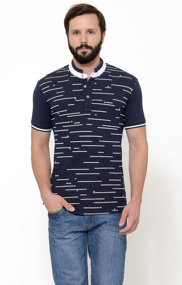 United Colors of Benetton | Dark Blue Printed T-Shirt