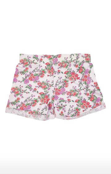 United Colors of Benetton | White Printed Shorts