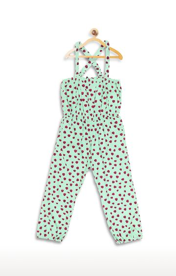 United Colors of Benetton | Light Orange Printed Dungaree