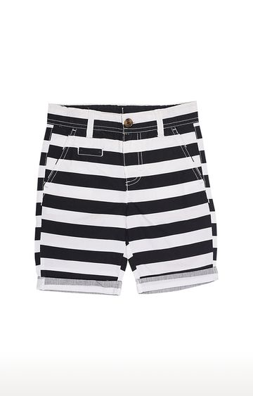United Colors of Benetton | Black Striped Shorts