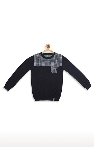 United Colors of Benetton | Black Checked Sweater