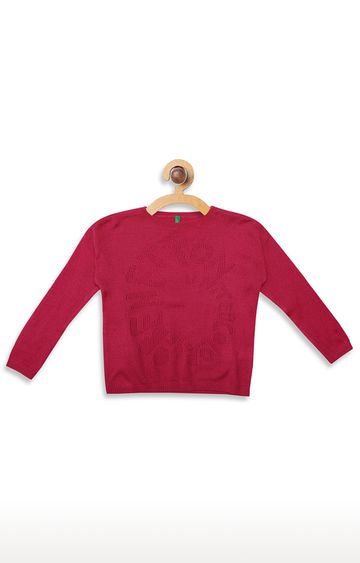 United Colors of Benetton | Pink Solid Sweater