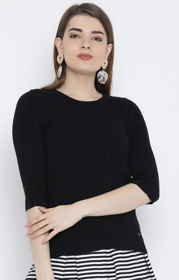 United Colors of Benetton | Black Solid Top