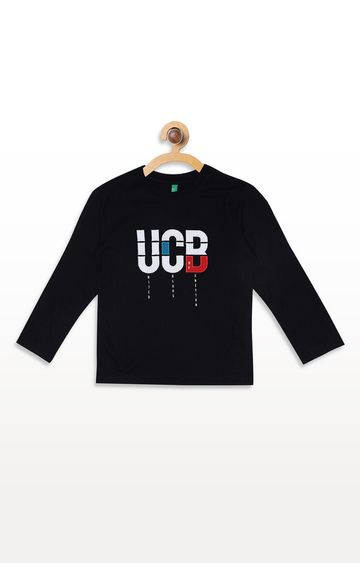 United Colors of Benetton | Black Printed T-shirt