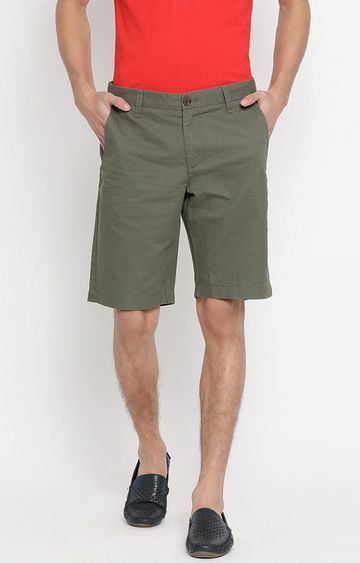 United Colors of Benetton | Olive Solid Shorts
