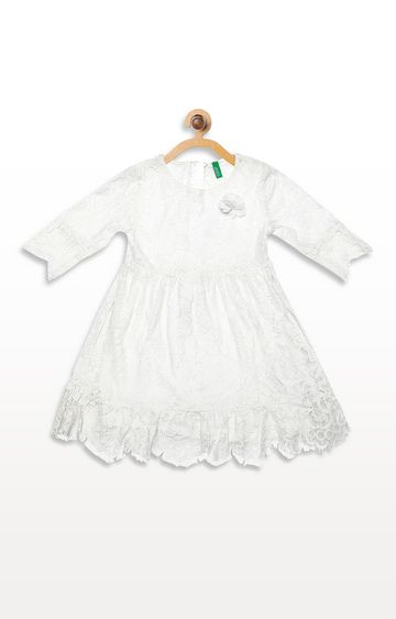 United Colors of Benetton | Off-White Solid Dress