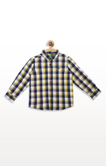 United Colors of Benetton | Black and Yellow Checked Shirt