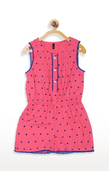 United Colors of Benetton | Pink Printed Dungaree