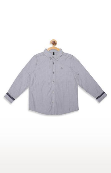 United Colors of Benetton | Grey Solid Shirt