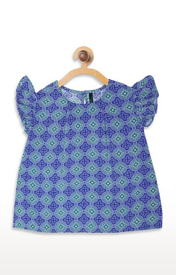 United Colors of Benetton | Blue Printed Top