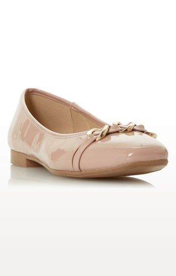Dune London | Beige Halsey DI Ballerinas