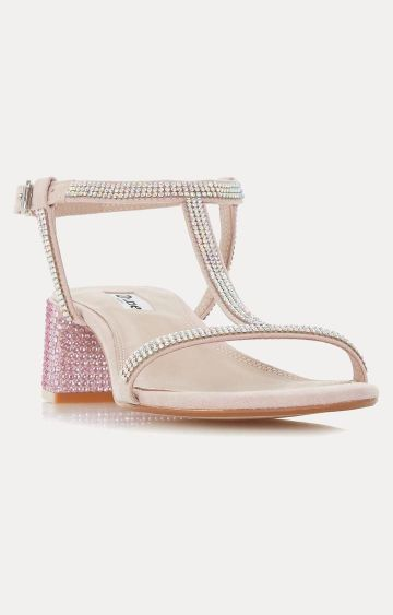 Dune London | Blush Block Heels Maae