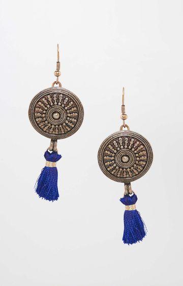 Global Desi | Blue Dangle and Drop Earrings