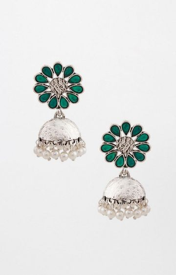 Global Desi | Green Jhumkis