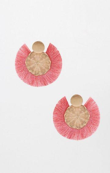 Global Desi | Pink Dangle and Drop Earrings