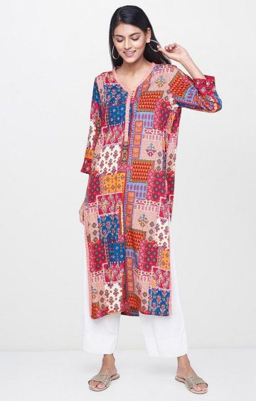 Global Desi | Multicoloured Printed Kurta