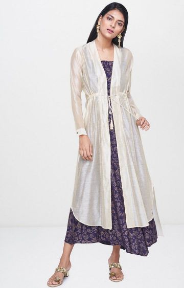 Global Desi | Purple Printed Maxi Dress