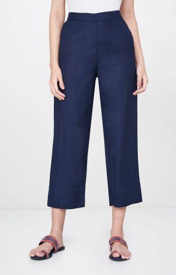 Global Desi | Indigo Solid Culottes