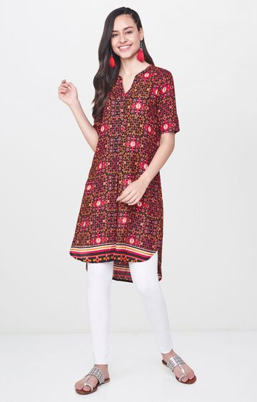 Global Desi | Black Printed Tunic