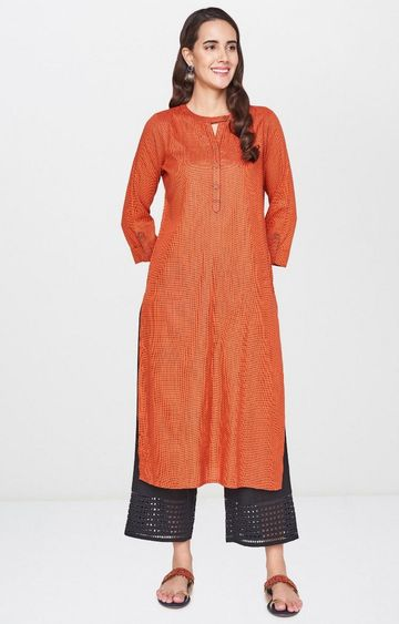 Global Desi | Orange Printed Tunic