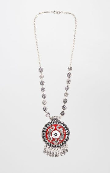 Global Desi | Silver Statement Necklace
