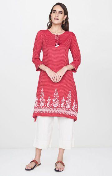 Global Desi | Red Printed Tunic