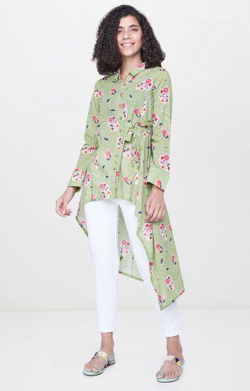 Global Desi | Green Printed Tunic