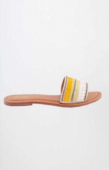Global Desi | Yellow Slip-ons