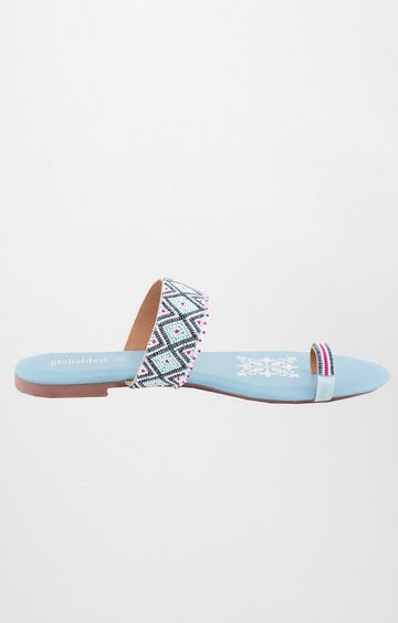 Global Desi | Multicoloured Ethnic Sandals